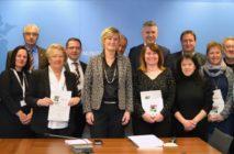 16 Betriebe erhalten das EcoLabel 2017 aus den Händen der Staatssekretärin