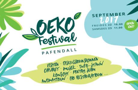 Oekofestival am Pafendall 22. an 23. September 2017