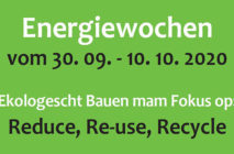 Energiewochen 2020: Reduce, Re-use, Recycle